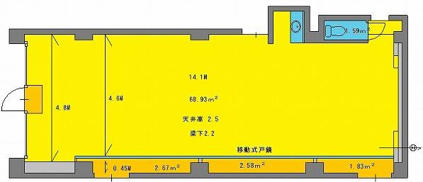 原宿レンタルスタジオ 図面