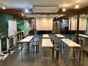原宿スタジオ ワークショップ 英会話教室 スクリーン プロジェクター