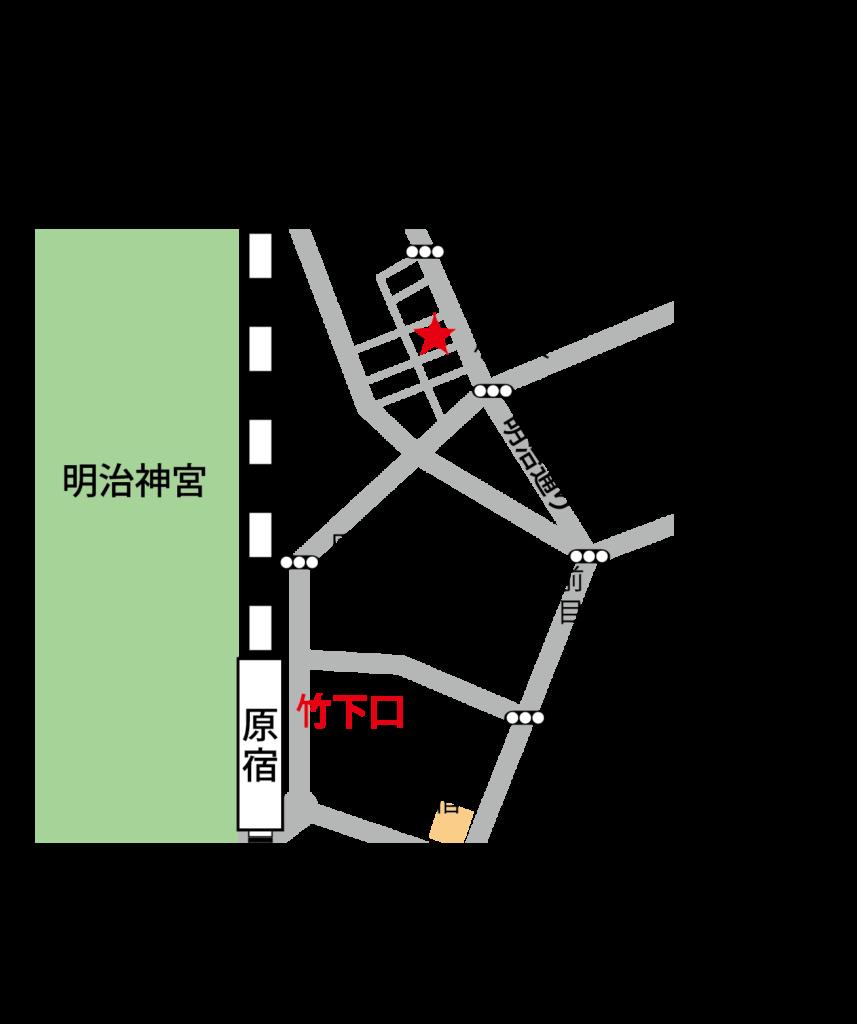 原宿ダンススタジオ MOAスタジオ マップ